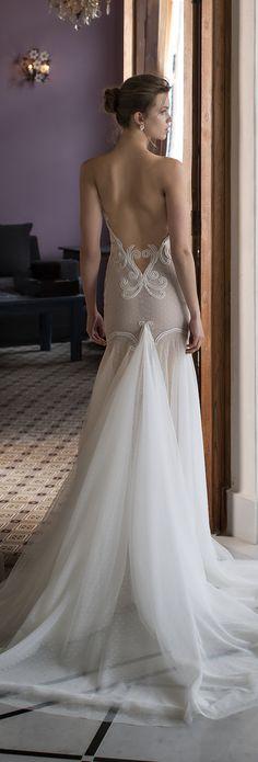 Sexy sheer bridal gown | Riki Dalal 2016 Verona Wedding Dress Collection via @BelleMagazine