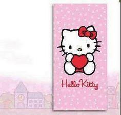 serviette et drap de plage Hello Kitty