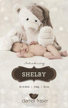 Shelby - newborn announcement