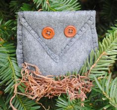 Woodsey Felt Owl Ornament | AllFreeSewing.com