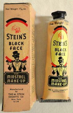 Stein's Blackface cream from the half of the Century. Hattie McDaniel's troupe relied on burnt cork.
