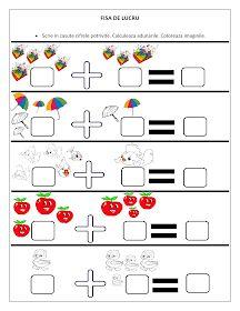 Fise de lucru - gradinita: FISE cu adunari pentru clasa Pregatitoare / Fise de lucru cu adunari Dyslexia Activities, Kindergarten Math Worksheets, Preschool Activities, Numbers Preschool, 1st Grade Math, Math For Kids, Mathematics, Professor, Teaching Kids