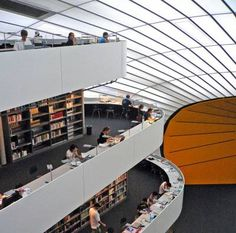 Biblioteca della facoltà di Filologia, Università di Berlino, Germania. www.sulromanzo.it/blog/le-piu-belle-librerie-e-biblioteche-del-mondo-78