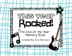 This Year ROCKED! {A rockstar themed end-of-the-year memory book}