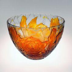 Yellow rose bowl