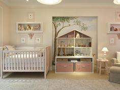 Baby room - girls I love the dolls house/ toy storage
