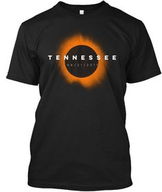 Tennessee Total Solar Eclipse T Shirt Black T-Shirt Front