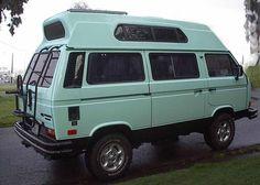 Jimmy Buffet's van.  Sea foam green high-top.  Sick.