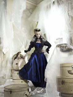 Daphne Guinness, Photographed by Mario Testino for British Vogue, March 2008