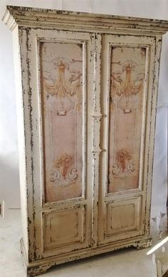 Exceptionnel Shabby Chic French Versailles Armoire. Another Beautiful Piece. Distressed  Wood With French Front Design