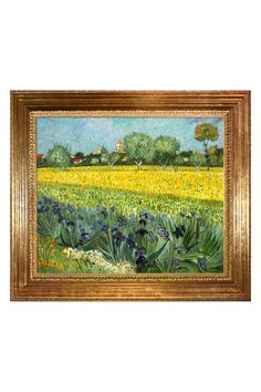 Vincent Van Gogh View of Arles with Irises Framed Hand Painted Oil on Canvas