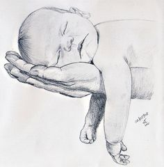 43 New Ideas For Baby Drawing Sketches Mothers Cool Art Drawings, Pencil Art Drawings, Art Drawings Sketches, Sketches Of Hands, Tumblr Sketches, Sketches Of Love, Portrait Sketches, Baby Drawing, Drawing For Kids