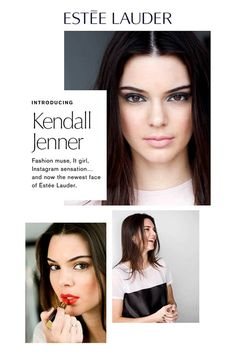 Kendall Jenner is announced as the new face of Estee Lauder. Go behind-the-scenes with the model in this adorable video. Kendall Jenner Make Up, Kendall Jenner News, Kendall Jenner Estee Lauder, Bobbi Brown, Kim Kardashian Sisters, Estee Lauder Produkte, Wedding Make Up Inspiration, Power Of Makeup, Beauty News