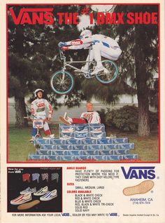 Vans advertisement featuring Woody Itson / 1984