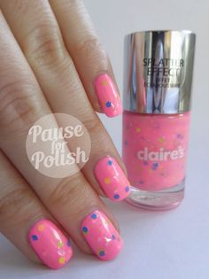 Pause For Polish: Claire's Accessories | New Splatter Polish Swatches