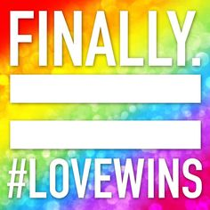 History in the making! #SCOTUS rules that that same-sex marriage is now legal in all 50 states ❤️ #LoveWins