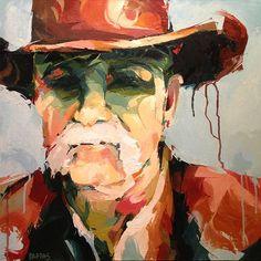 Old Cowboy by Julia Pappas $595 Original Oil 24 x 24