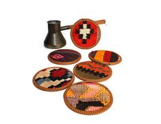 kilim coasters cup coaster coffee coasters beer coasters drink