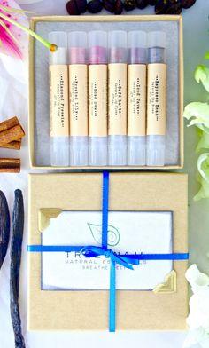 Set of 6 Natural Lip Glosses - Sheer Lip Tint - Natural Cosmetics  - Gift Sets…