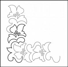 TEMPORARY OVERSTOCK PRICE REDUCTION...Aloha Petite Corner quilting pantograph pattern by Patricia Ritter of Urban Elementz
