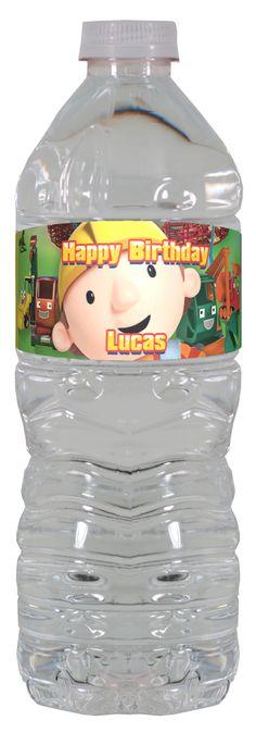 Bob the Builder personalized water bottle labels – worldofpinatas.com