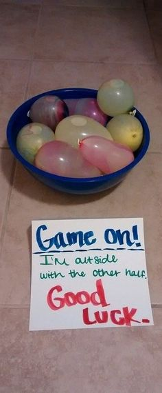 water balloon surprise