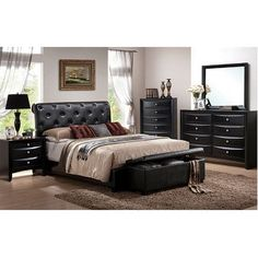 King Bedroom Sets Black costco: dawson 6-piece cal king bedroom set | home decor
