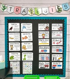 I love having this board right next to my small group table. The visuals make it easier to teach strategies to my firsties. Reading Intervention Classroom, Kindergarten Classroom Setup, Classroom Layout, First Grade Classroom, New Classroom, Special Education Classroom, First Grade Math, Classroom Themes, Second Grade