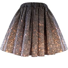 Stardust Galaxy Ombre Skirt - Short
