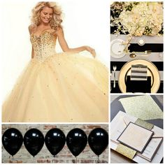 Black and white affair party | Quinceanera Ideas | Quinceanera party planning |