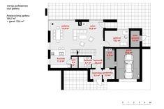 DOM.PL™ - Projekt domu CPT HomeKONCEPT-34 CE - DOM CP1-40 - gotowy koszt budowy Stag Design, Modern House Design, Architecture Design, House Plans, Pergola, Floor Plans, Construction, How To Plan, Bungalow