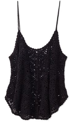 Black Croche Top