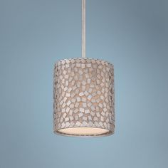 "Quoizel Confetti 8"" Wide Old Silver Mini Pendant Light -"