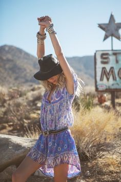 Spontaneous road trips and breezy boho dresses are the recipe for spring fun.