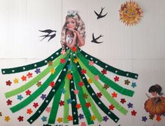 Spring Tree, Fairy Princesses, Baby Games, Classroom Decor, Christmas Ornaments, Holiday Decor, 1st Grades, Christmas Jewelry, Christmas Decorations