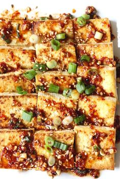 Korean-Style Pan Fried Tofu recipe by SeasonWithSpice.com