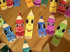 Pastelky - vyzdoba oken Montessori, September, Classroom, Photo And Video, Blog, Crafts, Diy, Wedding, Ideas
