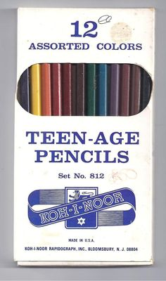 Museum of Forgotten Art Supplies - Teen-Age Pencils - Pencils, Erasers, etc.