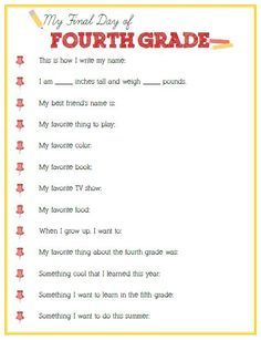 Final Day of Fourth Grade Interview - Click image or link to download
