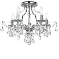 5935-CH-CL-MWP   Lighting Expo1 Ceiling Fixtures, Ceiling Lights, Light Fixtures, Crystal Candelabra, Crystal Chandeliers, Candelabra Bulbs, Swarovski, Semi Flush Lighting, Foyer Lighting