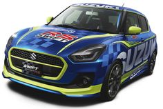 Suzuki has revealed a one-off Suzuki Swift Racer RS that will be showcased at the 2017 Tokyo Auto Salon this week. It is likely to be a show car. New Suzuki Swift, Suzuki Swift Sport, New Swift, Tokyo, Suzuki Cars, Racing Car Design, Audi Cars, Car Wrap, Automobile