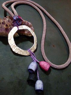 handmade silk cocoons jewelry - No90