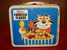 1969 Kellogg's Breakfast Lunchbox Frosted Flakes Tony The Tiger Snap Crackle Pop