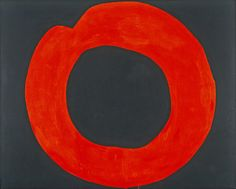 Red Circle on Black - Jiro Yoshihara, 1965