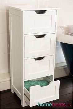 Ideas White Storage Cabinet Bathroom Drawers For 2019 Storage Cabinet With Drawers, White Storage Cabinets, Drawer Storage Unit, Kitchen Cabinet Storage, Drawer Organisers, Large Drawers, Smart Storage, White Cabinets, Storage Baskets