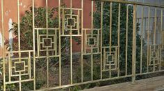 Though it's easy to overlook, this beautiful Art Deco fence can be found in the shadow of a train trestle near Antin Place, where Bronxdale and Holland Avenues meet in the Van Nest section of the East Bronx. A vestige of the New York, Westchester and Boston Railroad, the tracks are now used by the #5 subway line.