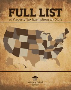 Property Tax Exemptions by State: Many Veterans, disabled and able alike, may not be aware of the benefits available to them.