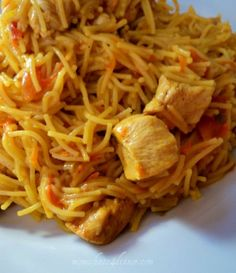 Curry Chicken Noodles on http://momwhats4dinner.com/curry-chicken-noodles/