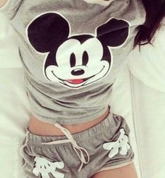 Ideas Funny Shirts Disney Mickey Mouse For 2019 Cute Disney Outfits, Cute Lazy Outfits, Disney Pajamas, Cute Pajama Sets, Cute Pjs, Cute Pajamas, Pijamas Women, Cute Sleepwear, Loungewear