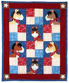 """Pony Tales"" quilt pattern from Willow Bay Designs.  Adorable!"